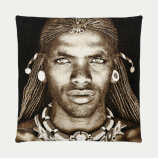 Coussin Samburu Warrior Kenya