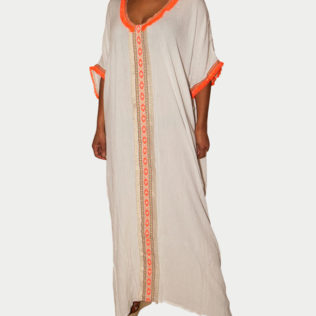 Robe de plage ZEN orange